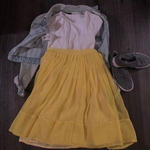 Freeway Full Ruffled Yellow Skirt.